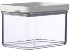 Transparante Mepal Omnia Bewaardoos - Opbergbox - Opbergdoos - Kaasdoos 700ml - Wit