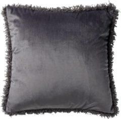 Antraciet-grijze Dutch Decor Kussenhoes Saara 45x45 cm Charcoal Gray