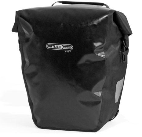 Afbeelding van Zwarte Fietstas dubbel - paar - Zwart - Back Roller City - F5002 - QL1 - Ortlieb