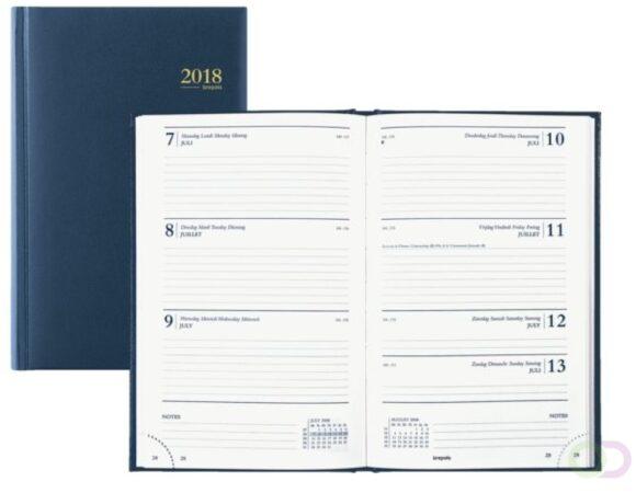 Afbeelding van Agenda Brepols 2020 - Saturnus - 1 week/2 pagina's - Blauw - 14 x 21,5 cm
