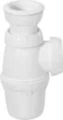Witte Wirquin sifon voor wastafel regelbaar Ø 32/40 mm