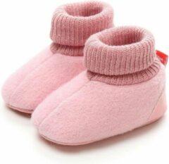 Drukkies Katoenen baby Slofjes roze 0-6 maanden