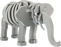 Toitoys Toi-toys 3d Puzzel Olifant Junior 31,5 Cm Foam Grijs 75-delig
