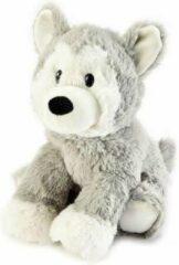 Grijze Cuddly Toys Braet Warmies Husky - Magnetronknuffel