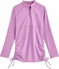 Coolibar - UV Zwemshirt voor meisjes - Longsleeve - Lawai Ruche - Lavendel - maat S (104-116cm)