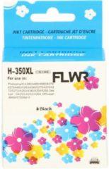 FLWR - Inktcartridge / 350XL zwart - Geschikt voor HP