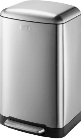 Afbeelding van Zilveren BLACK+DECKER pedaalemmer - 30L - RVS - soft close - losse binnenemmer