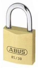 ABUS hangslot, slotkast messing, diam beugel 5mm, beugelhoogte 17mm