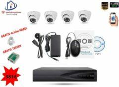 Witte Home-Locking camerasysteem met bewegingsdetectie en NVR 2.0MP H.265 POE en 4 binnen camera's 2.0MP CS-4-492D