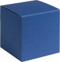 Papyrasse Geschenkdoosjes vierkant-kubus karton 09x09x09cm BLAUW (100 stuks)