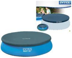 Intex afdekzeil voor zwembad 244 cm vinyl donkerblauw