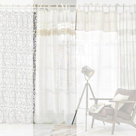 Afbeelding van Gebroken-witte LOBERON Gordijn Juliene offwhite