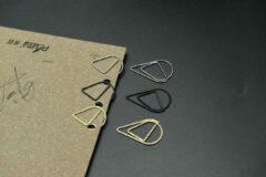Merkloos / Sans marque Paperclips Druppel - zwart - 12 stuks