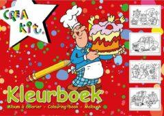 Witte Merkloos / Sans marque Pakket van 2x stuks kleurboek/kleurplaten A4 papier - 24 vellen - kleurboeken A4 papier