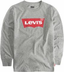 Levi's Kids longsleeve Batwing met logo grijs melange