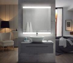 FOCCO Emma LED spiegel 80x80 met twee banen