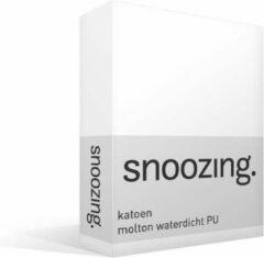 Snoozing Katoen Molton Waterdicht Pu Hoeslaken - 100% Katoen - 1-persoons (80x210/220 Cm) - Wit