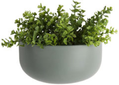 Present Time Woonaccessoires Wall plant pot Oval wide ceramic matt Groen