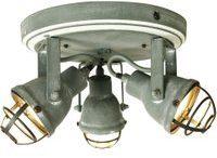 Im Industrie-Design - 3-flg. LED-Deckenlampe Bente