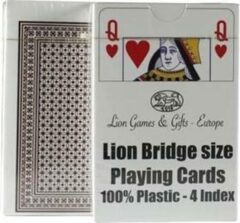 LION-GAMES Lion 100% plastic, Bridge formaat, 4 Index