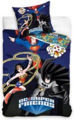 Dc Comics Dc Superfriends Dekbedovertrek - 100% Katoen - 1-persoons (140x200 Cm + 1 Sloop) - 1 Stuk (70x80 Cm) - Multi
