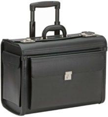 Pilotenkoffer Trolley 48 cm Laptopfach Dermata schwarz
