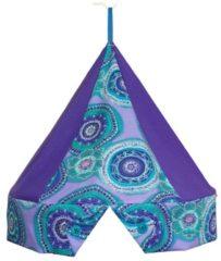 Blauwe Klamboekroon Circels Aqua/paars met Klamboe