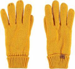 Sarlini Okergele gebreide handschoenen voor kinderen - One size - Warme fleece voering handschoenen voor jongens/meisjes