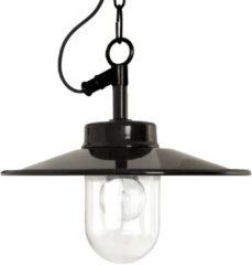 Zwarte Buiten Hanglamp - Vita aan ketting - Aluminium - Zwart - KS Verlichting