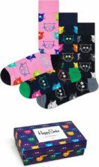 Happy Socks 3P Mixed Cat Socks Giftbox - Maat 36-40