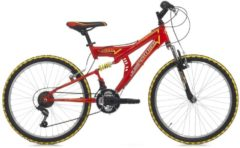 Cicli Cinzia 24 ZOLL CINZIA ARROW FULLY JUNGEN MOUNTAINBIKE 18-GANG Kinder rot