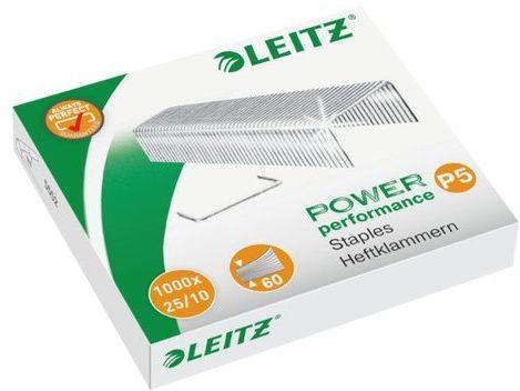 Afbeelding van Leitz 25/10 Power Performance P5 5574-00-00 Nietjes 1000 stuk(s) 1.000 stuks/pak Heftcapaciteit: 60 vel (80 g/m²)