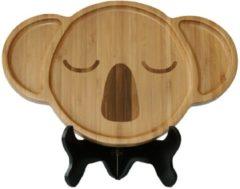 Naturelkleurige Bamdura tableware Bamboe Serveerschaal 'Koala'