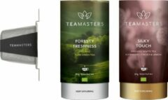 Teamasters klein- Silky Touch - Foresty Freshness - Groene Thee - Framboos thee - Witte thee - Thee Geschenkset - Cadeautip - Losse Thee - Theedoos - Relatiegeschenk