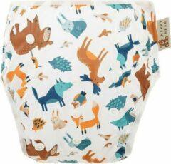 HappyBear - Zwemluier Bosdieren   0-3 jaar - Wasbaar - Onesize