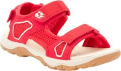 Rode Jack Wolfskin Taraco Beach Sandal K Sandalen Unisex - Red / Champagne - Maat 35