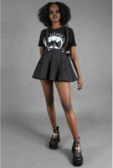 Jawbreaker Korte rok -M- Stripes 'N' Suspenders Zwart