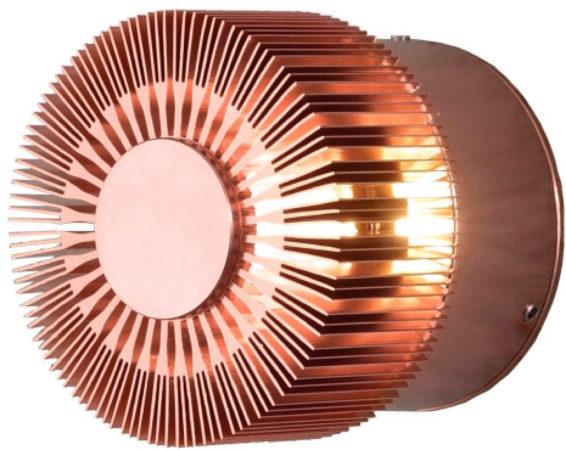 Afbeelding van Konstsmide Buitenlamp 'Monza Round' Wandlamp, PowerLED 1 x 3W / 230V, kleur Koper