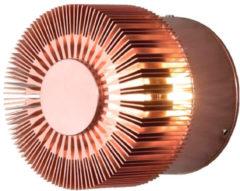 Konstsmide Buitenlamp 'Monza Round' Wandlamp, PowerLED 1 x 3W / 230V, kleur Koper