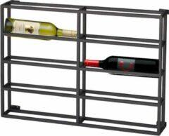 Zwarte 4udesigned Metalen Wijnrek Hangend 2 x 4 Flessen