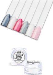 Zilveren IBP Mix & Mingle Nail Art mermaid effect silver 5gr