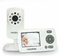 Witte HelloBaby HB30 Babyfoon met camera - Nachtzicht - Geluidsactivatie - Terugspreekfunctie - Zoomfunctie - Nederlandstalig
