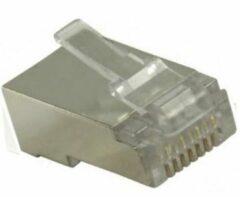 Grijze Nedis CCGP89307ME Netwerkconnector Rj45 Male - Voor Stranded Cat6 U/ftp-kabels 10 Stuks Metaal