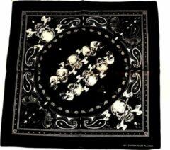 Zac's Alter Ego Bandana Paisley and skulls Mondkapje Zwart/Wit