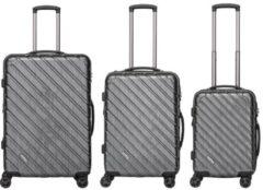 Packenger Hartschalentrolley Set mit 4 Rollen, »Vertical« (3tlg.)