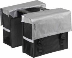 Bagoo Dubbele Fietstas Bisonyl 34 Liter Zilver/zwart