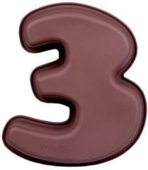 Bruine Cosy&Trendy Cosy & Trendy Love Baking Bakvorm - Silicone - Cijfer 3