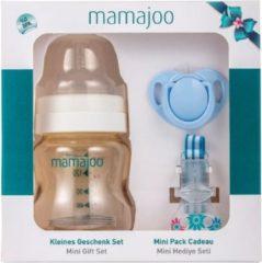 Mamajoo Gold Mini-cadeauset voor baby's | 150 ml | BPA-vrij | Gezond | Veilig | Voor pasgeborenen | Makkelijk schoon te maken Babygezondheid | Babyartikelen | blauw