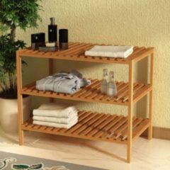 Marrone VidaXL Scaffale in legno massello di noce 65x40x55 cm