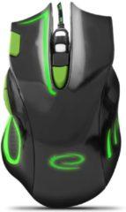 Esperanza Optische USB Game Muis 7D Hawk met LED - 2400 DPI - Groen